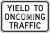 Yield to Oncoming Traffic clipart