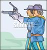 Civil War Soldiers Shooting Revolvers clipart