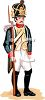 Blue Coat Soldier with a Bayonet clipart