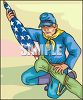Civil War Soldier Putting the Flag Away clipart