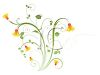 Pretty Floral Design Element clipart
