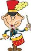 Cute Cartoon of a Drum Major in a Marching Band clipart