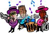 Three Piece Jazz Band clipart