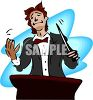 Orchestra Conductor Smiling  clipart