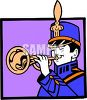 Marching Band Trumpet Player clipart