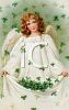 Angel with a Bunch of Shamrocks clipart