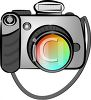 Cartoon Digital Camera clipart