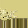 Elegant Background Design with Swirls and Stripes clipart