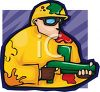Guy at a Paintball Competition clipart
