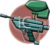 Self Loading Paintball Gun clipart
