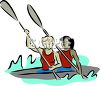 Two Women in a Kayak clipart