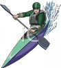 White Water Kayaking clipart