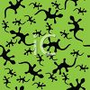 Silhouettes of Geckos on a Green Background clipart