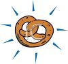 Cartoon Pretzel Ad clipart