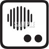 Intercom Speaker Icon clipart