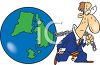 Businessman Pulling the Weight of the World clipart