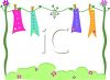 Whimsical Clothesline with Banners that Have Emotion Words clipart
