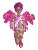 Pink Faerie with Feathered Wings clipart