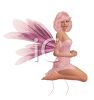 Alluring Woman Wearing a Pink Faerie Costume clipart