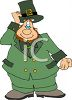 Fat Cartoon Leprechaun Tipping His Hat clipart