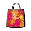 Pretty Handbag with a Floral Design clipart