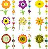 Collection of Cute Flower Icons clipart