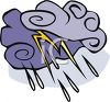 Lightening Coming From a Cloud clipart