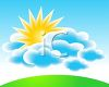 Sun Shining Above Clouds clipart
