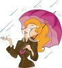 Woman Catching Rain in Her Hand clipart