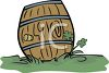 Keg of Beer or Ale for St Patrck's Day clipart
