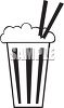 Black and White Milkshake Icon clipart