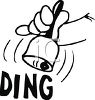 Hand Ringing a Bell clipart
