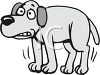 Scared Dog Shivering clipart