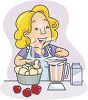 Lady Making a Breakfast Smoothie clipart
