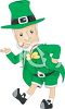 Cartoon of a Leprechaun Doing a Jig clipart
