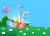 Easter Eggs on a Spring Background clipart