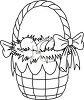 Easter Basket Coloring Page clipart