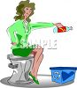 Woman Recycling Plastic for Earth Day clipart