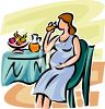 Pregnant Woman Drinking Orange Juice clipart