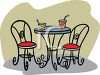 Beverages on a Bistro Table clipart