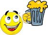 Smiley Holding a Mug of Beer clipart