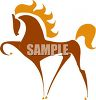 Sylized Horse Silhouette clipart