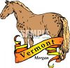 State of Vermont Banner with a Morgan Horse clipart