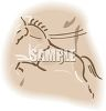 Horse Engraving Design clipart