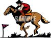 Pony Express Rider on His Horse clipart