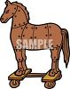 Trojan Horse Made of Wooden Panels clipart