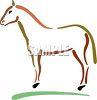 Childish Line Drawing of a Horse clipart