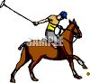 Polo Player on His Horse clipart