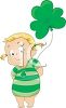 Little Girl Celebrating St Patrick's Day clipart