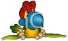 Sad Tropical Baby Bird clipart